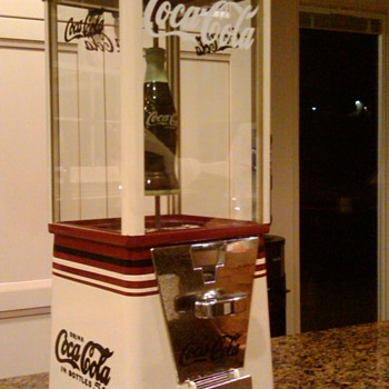 Gumball machines restored/themed Coca Cola