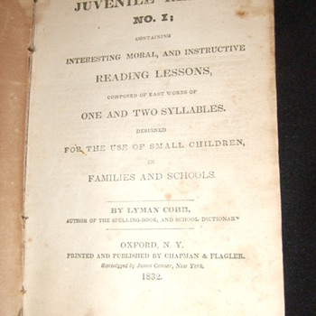 1832 Cobb's Juvenile Reader #1