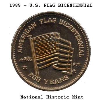 1985 - U.S. Flag Medal - US Coins