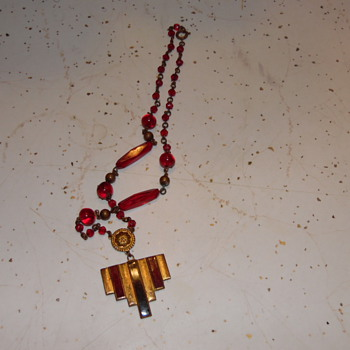Old Arts & Crafts  Necklace Military??? - Costume Jewelry