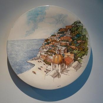 My Romolo Apicella Vietri Charger signed Landi - Art Pottery