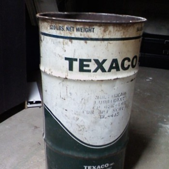 Texaco 120lb Oil Can - Petroliana