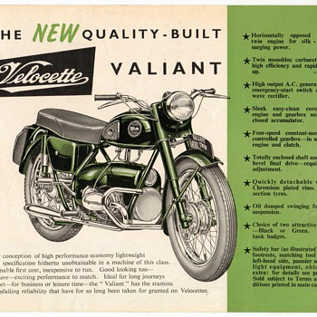 "1958 - ""Velocette Valiant"" Sales Flyer - Paper"