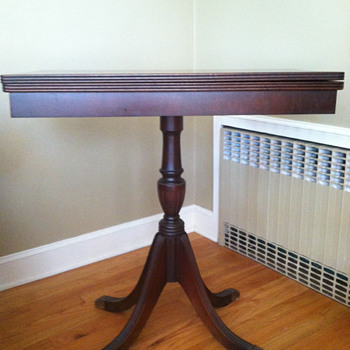Tag sale find - Clawfoot card table - Furniture