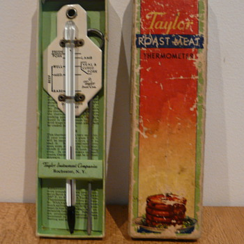 TAYLOR ROAST MEAT THERMOMETER 1934 - Advertising