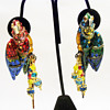 "Vintage Lunch at the Ritz ""Macaw Masquearde"" Earrings"