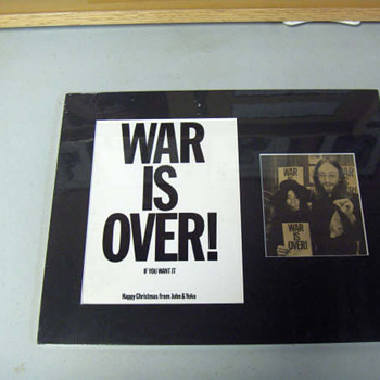 War Is Over postcard-1969...
