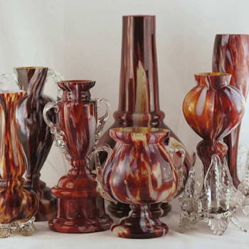 An assortment of Oxblood Decors From Welz and Other Unidentified Houses - Art Glass
