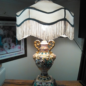 1923 italian antique lamp
