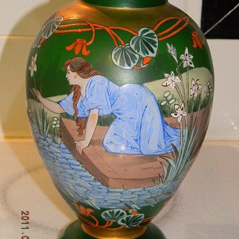 Victorian Vase - Art Glass