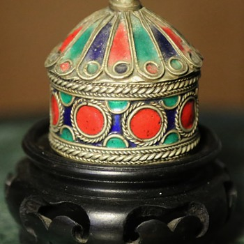 Little Round Enamel Box - Asian