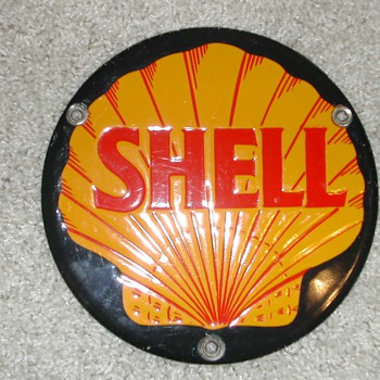 "6"" SHELL OIL PORCELAIN SIGN - Petroliana"
