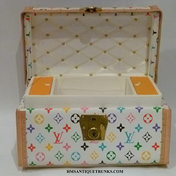 Louis Vuitton Jenny Lind Homage Toy, Doll Antique Trunk #2