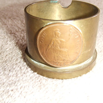 WW2 simple style trench art ashtray - Military and Wartime