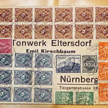 Wallpaper covers from the German Inflation period. - Stamps