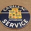 Cadillac Service enamel sign