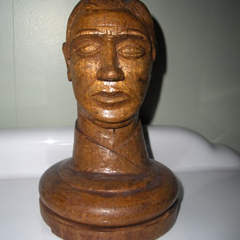 Mystery carved head.  Australian Trench Art?