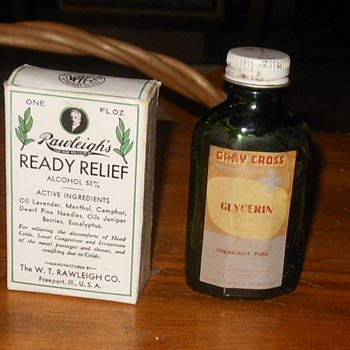 Vintage Medicine Bottles and Bandages - Bottles