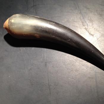 Very strange looking animal horn with scarey teeth... Anyone? - Folk Art