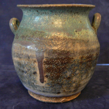 Small ceramic Vase with Handles - Art Pottery