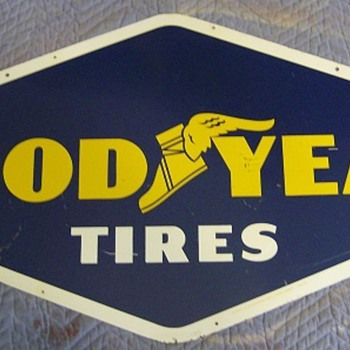 GOODYEAR TIRE SIGN - Need Value
