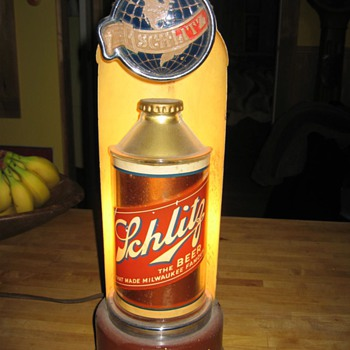 schlitz cone top lighted sign