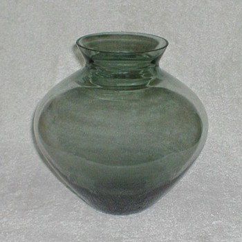 Bluegreen Glass Vase - Art Glass