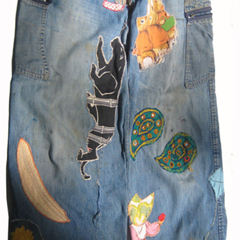 #25 ~ Maxine from Detroit Embroidered Hippie Era Denim Jeans - Womens Clothing