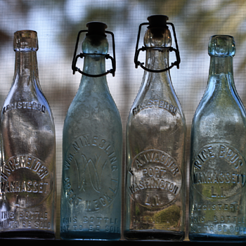 ~~~Long Island Blob Top Beer Bottles of the 1890's~~~