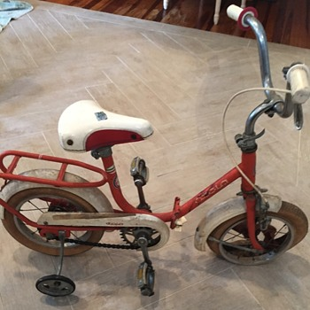 Vintage Atala Children's Bicycle with Training Wheels