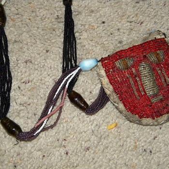 Old beaded necklace - American Indian or ???? - Native American