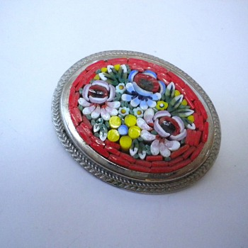 Little Micro Mosaic Brooch - Fine Jewelry