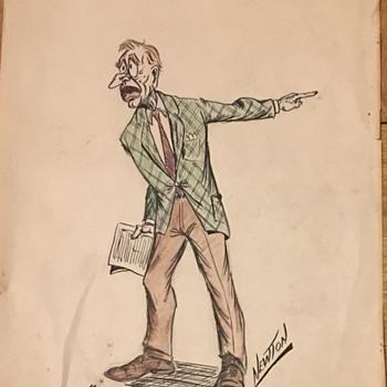 Newton  hand drawn  - Visual Art