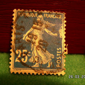 Vintage Republique Francaise 25c Stamp ~ Used