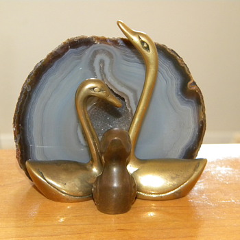 Vintage Brass Swan - Animals
