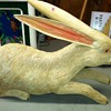 My white carved rabbit
