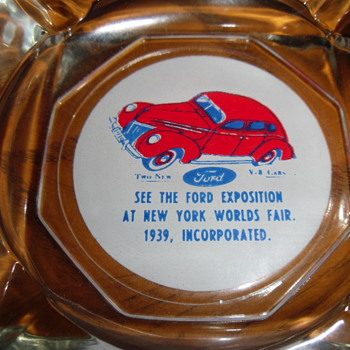 ~~1939 Ford New York Worlds Fair AshTray~~  - Advertising