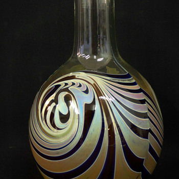 Unusual Craig Zweifel Bottle Vase - Art Glass