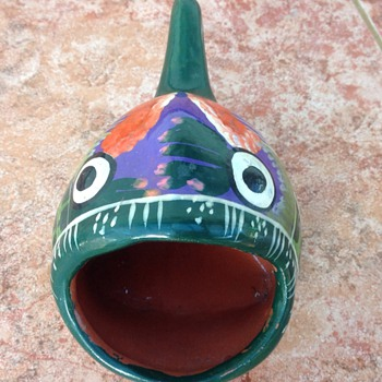 Ceramic Mexician fish - Art Pottery