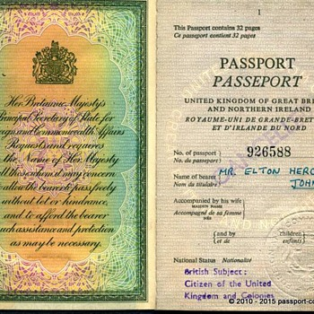 "Elton John's Passport 1972 - ""Rocket Man"""