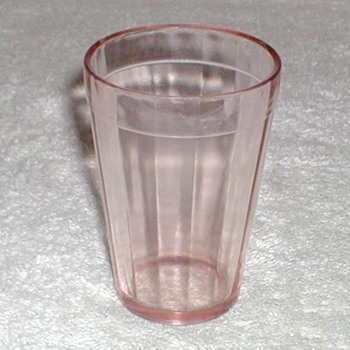 Pink Depression juice glass - Glassware