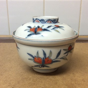 Help please, Chinese peach decorated rice bowl and matching lid