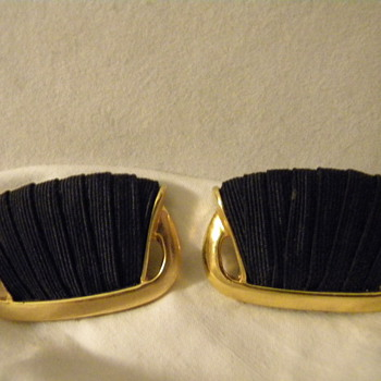 Vintage French Shoe Clips - Costume Jewelry