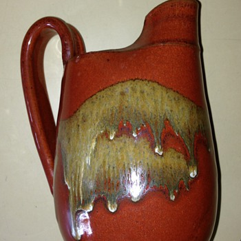 Studio pottery pitcher - Art Pottery