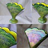 Welz Iridescent Swirl &quot;Marbled&quot; Fan Vase