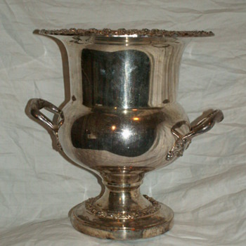 Vintage Champagne Bucket ~ Silver On Copper