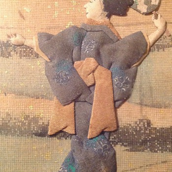 Japanese (origami?) picture. c.1900. 1 of 2