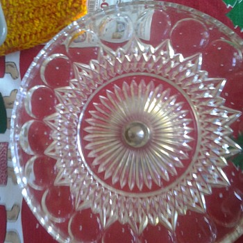 cake plate with silver bottom