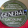 Old General Petroleum 30 inch 2 sided sign