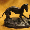 Pierre Jules (P.J.) Mene  (1810 - 1879)  Bronze Vintage Gray Hound with Birds